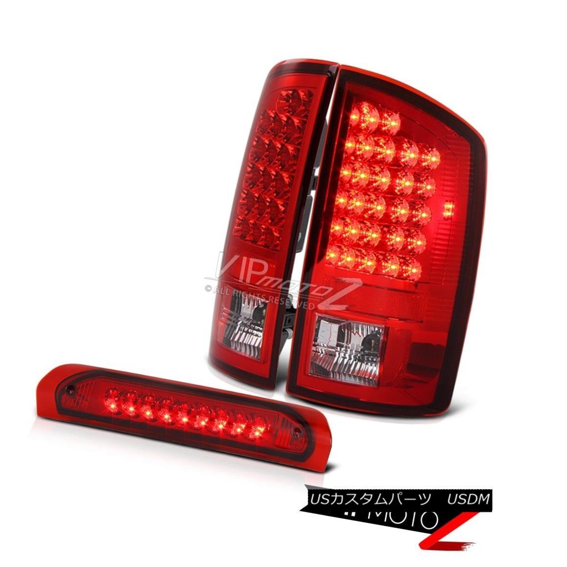 テールライト 2003-05 Dodge Ram 2500/3500 Factory Style Led Tail Lights+RED Led 3rd Brake Lamp 2003-05ダッジラム2500/3500工場スタイルのテールライト+レッド3番目のブレーキランプ