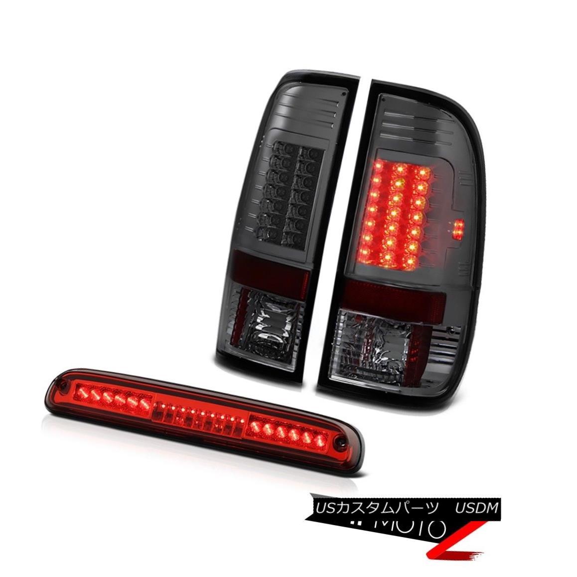 テールライト 99 00 01 02 0304 F250 6.8L Smoke Parking Tail Light Roof Third Brake LED Red 99 00 01 02 0304 F250 6.8Lスモークパーキングテールライトルーフ第3ブレーキLEDレッド