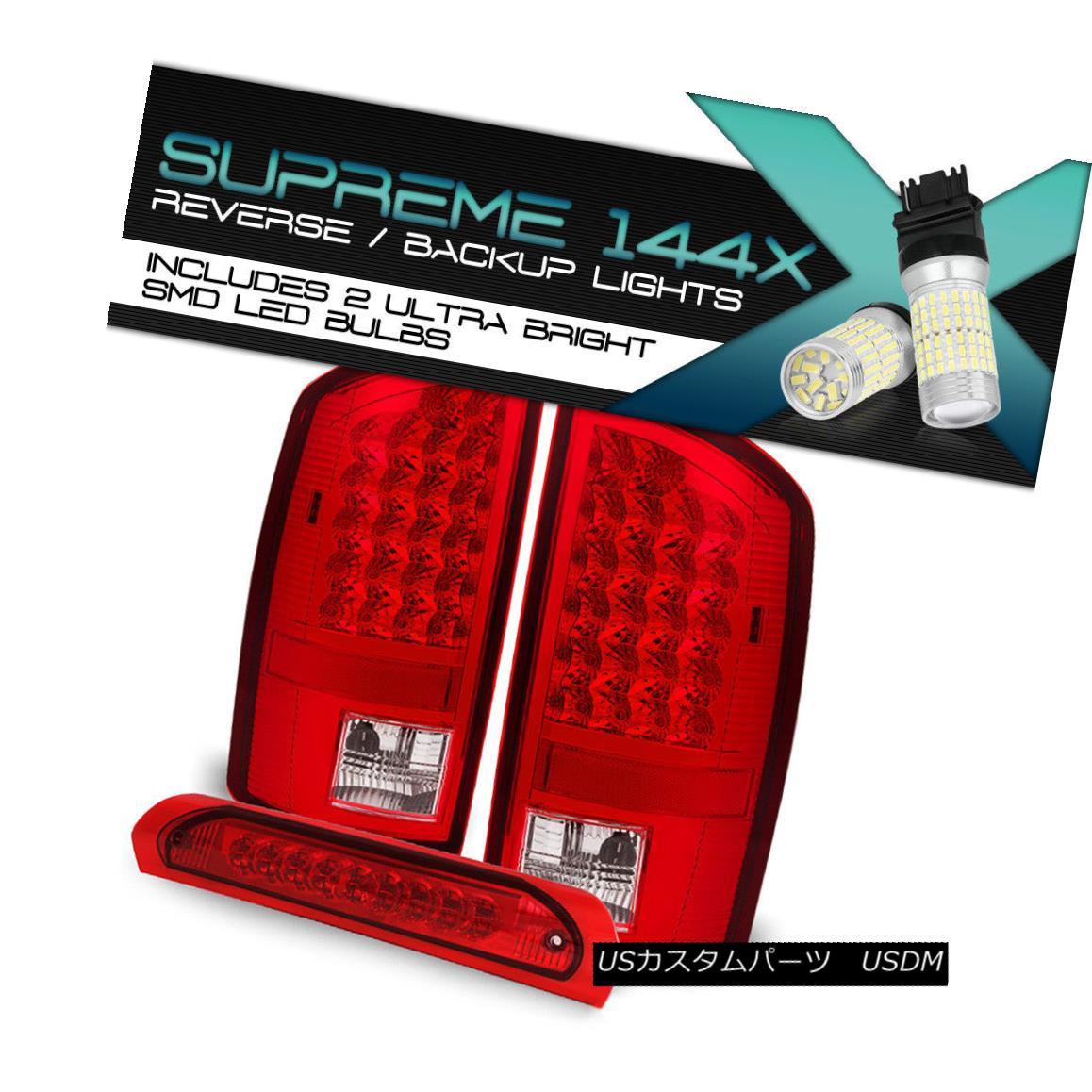 テールライト [FULL SMD BACKUP] Red LED brake + Tail Lights SET For 2002-2006 RAM Pickup Truck [FULL SMD BACKUP]赤色LEDブレーキ+テールライトセット2002-2006用RAM Pickup Truck