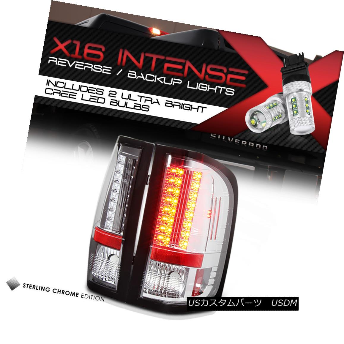 テールライト [High-Power SMD Reverse] Chevy Silverado 2007-2013 LED SMD Rear Tail Lights SET [ハイパワーSMDリバース] Chevy Silverado 2007-2013 LED SMDリアテールライトセット