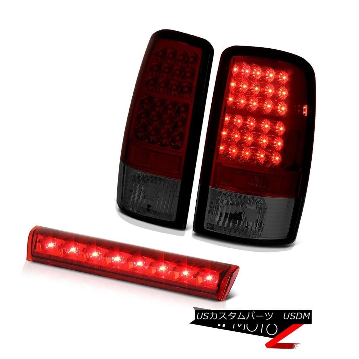 テールライト 2000-2006 Chevy Suburban 8.1L SMD LED Tail Brake Lamps Roof Stop Light Wine Red 2000-2006シボレー郊外8.1L SMD LEDテールブレーキランプルーフストップライトワインレッド