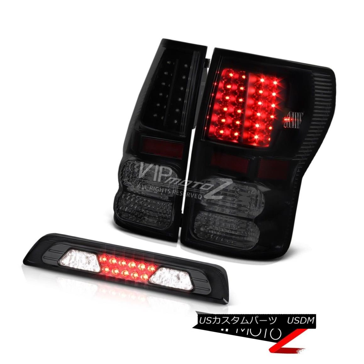 テールライト 07-13 Toyota Tundra SR5 Smokey Roof Brake Light Taillamps LED SMD