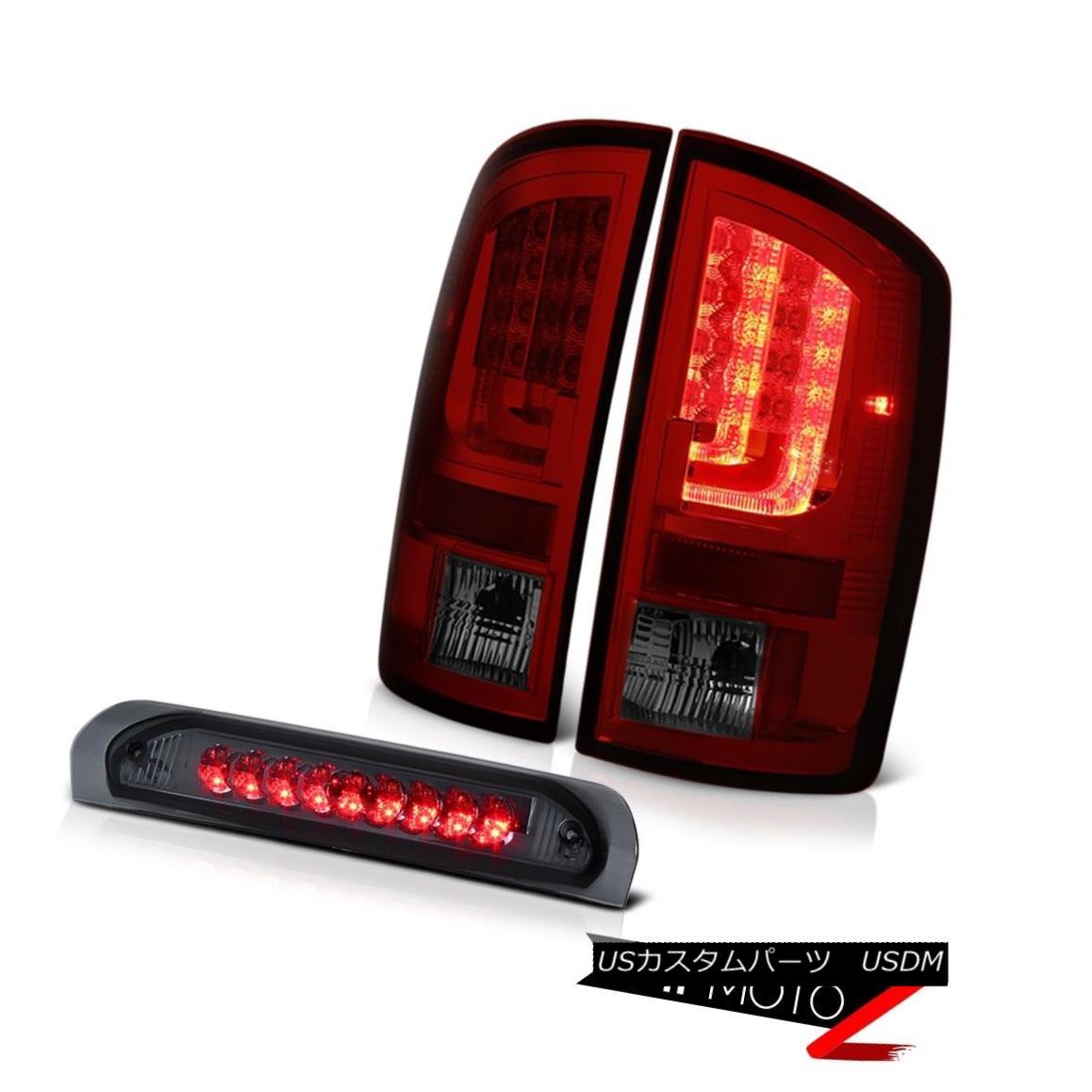 テールライト 02-06 Dodge Ram 1500 2500 ST Red Smoke Tail Lights 3RD Brake Light