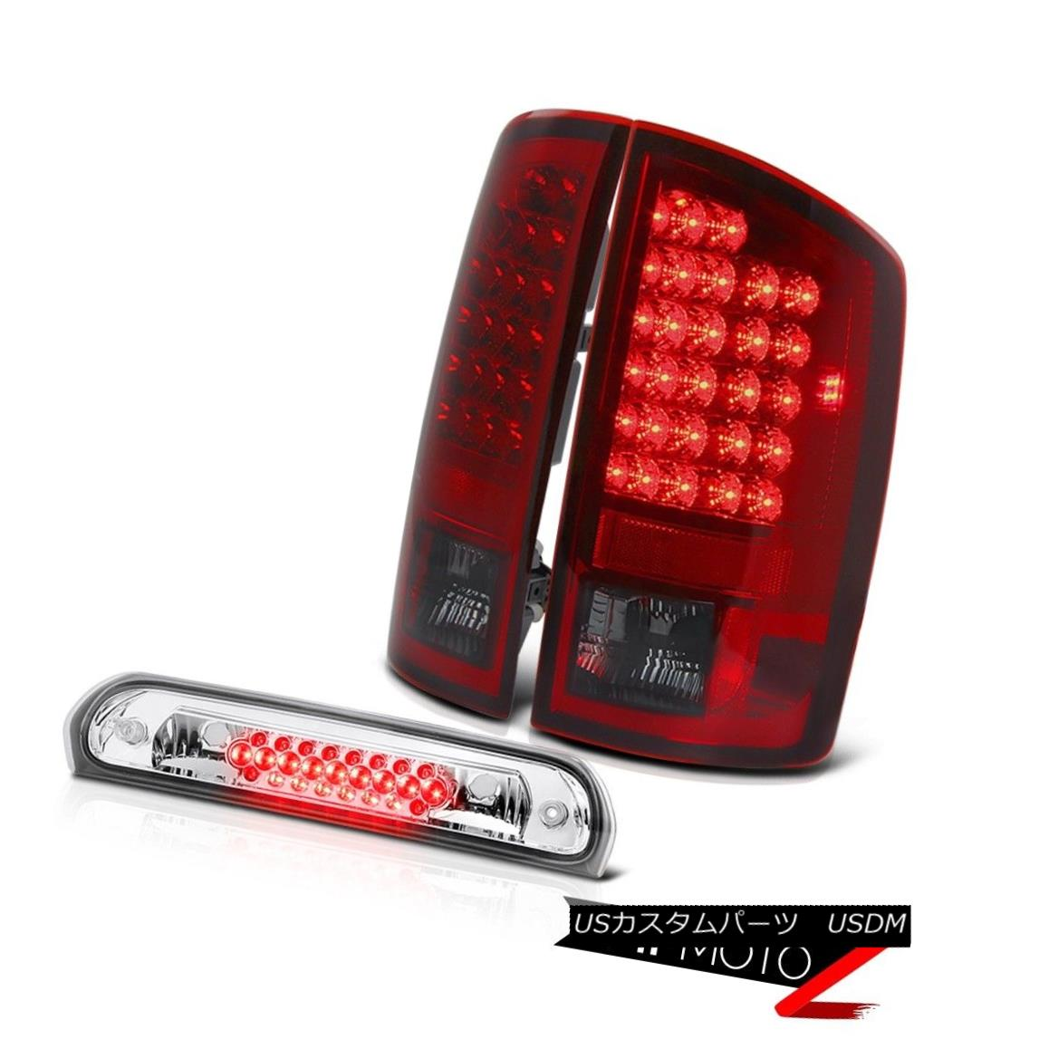 テールライト Wine Red LED Philip SuperFlax Tail Lights Third Brake Cargo 2006 Dodge Ram Hemi ワインレッドLED Philip SuperFlaxテールライトThird Brake Cargo 2006 Dodge Ram Hemi