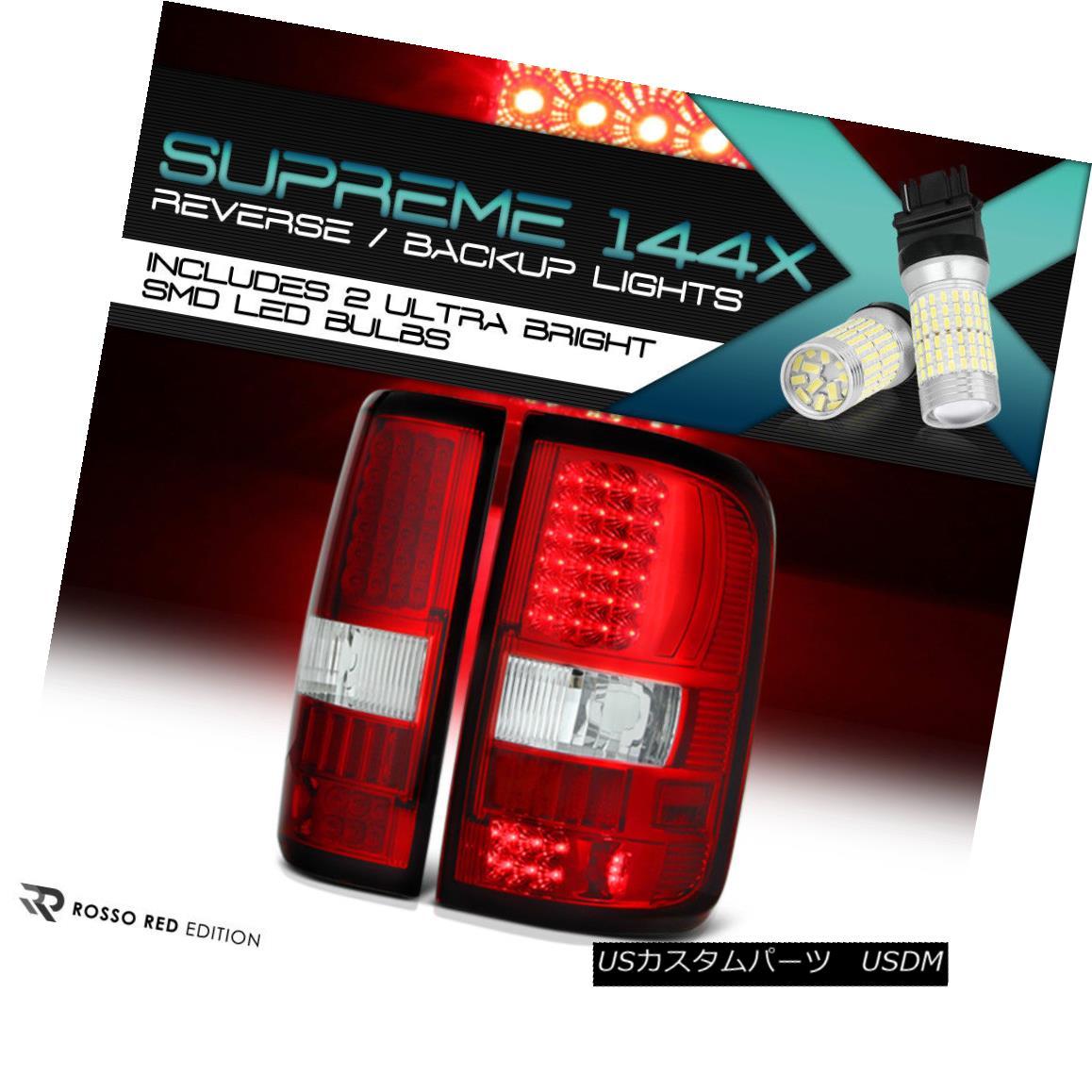 テールライト 360 DEGREE SMD REVERSE Factory Style {RED/CLEAR} LED Tail Light Brake 04-08 F150 360度SMD REVERSEファクトリースタイル{RED / CLEAR} LEDテールライトブレーキ04-08 F150