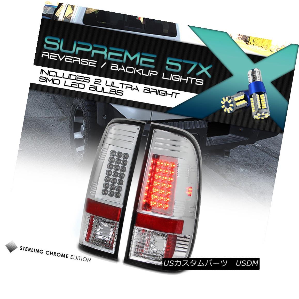テールライト [Full SMD Backup] 08-16 Ford F250 F350 SuperDuty LED Signal Brake Tail Lamp PAIR [フルSMDバックアップ] 08-16 Ford F250 F350 SuperDuty LED信号ブレーキテールランプペア