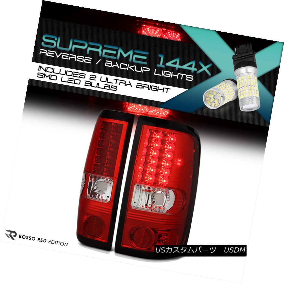 テールライト [FULL SMD BACKUP] 2004-2008 Ford F150 Lobo RED LED Rear Tail Lights FX2 FX4 V8 [FULL SMD BACKUP] 2004-2008フォードF150ロボRED LEDリアテールライトFX2 FX4 V8