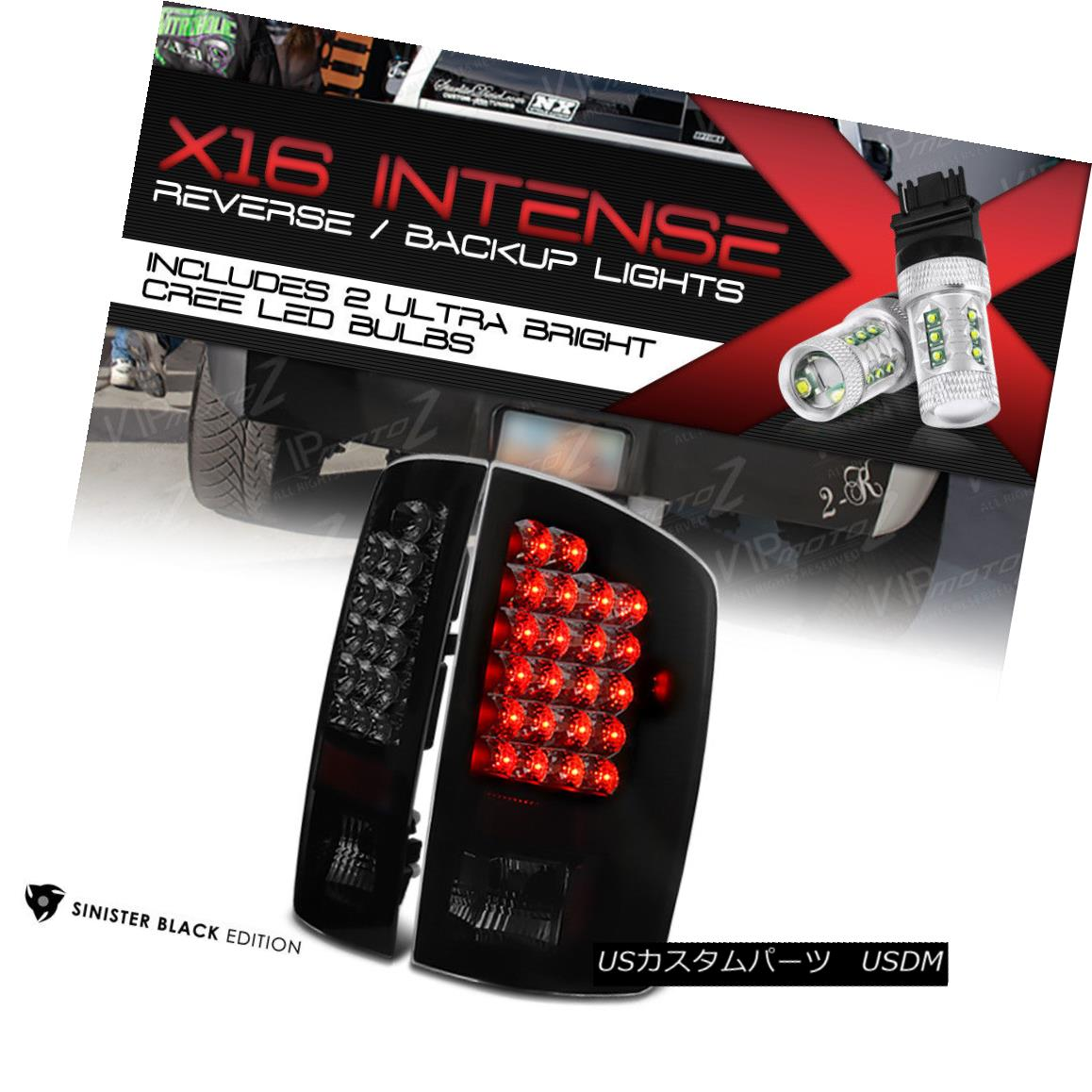 テールライト [HIGH-POWER SMD REVERSE] 2002-2006 Dodge Ram [SINISTER BLACK] LED Rear Taillight [HIGH-POWER SMD REVERSE] 2002-2006 Dodge Ram [SINISTER BLACK] LEDバックライト
