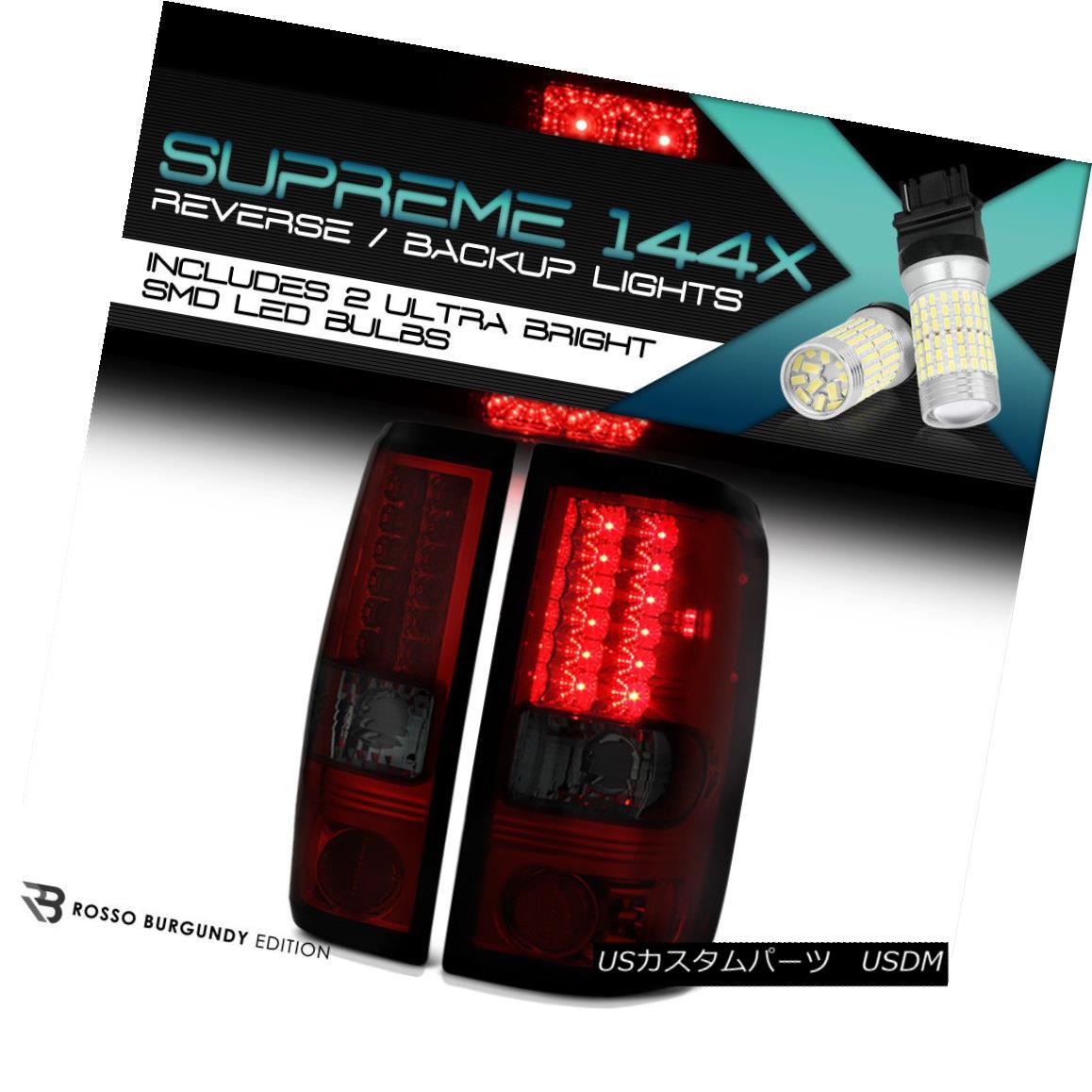 テールライト 360 Degree SMD Backup 2004-2008 Ford F150 Smoke LED Tail Lamps PAIR LEFT+RIGHT 360度SMDバックアップ2004-2008フォードF150煙LEDテールランプペア左+右