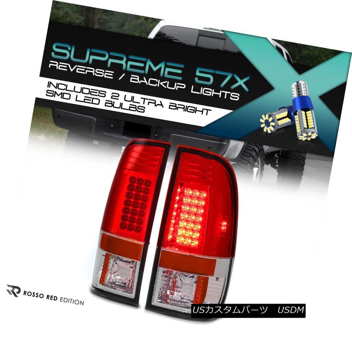 テールライト Full SMD Backup [INSTANT UPGRADE] 08-2016 Ford F250 F350 SD RED LED Taillights フルSMSバックアップ[インスタントアップグレード] 08-2016フォードF250 F350 SD RED LEDテールライト