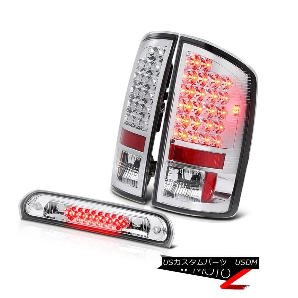 テールライト BRIGHTEST Rear signal LED Taillight High Stop Brake Light Chrome 02-05 Dodge Ram BRIGHTESTリアシグナルLEDテールライトハイストップブレーキライトクローム02-05 Dodge Ram