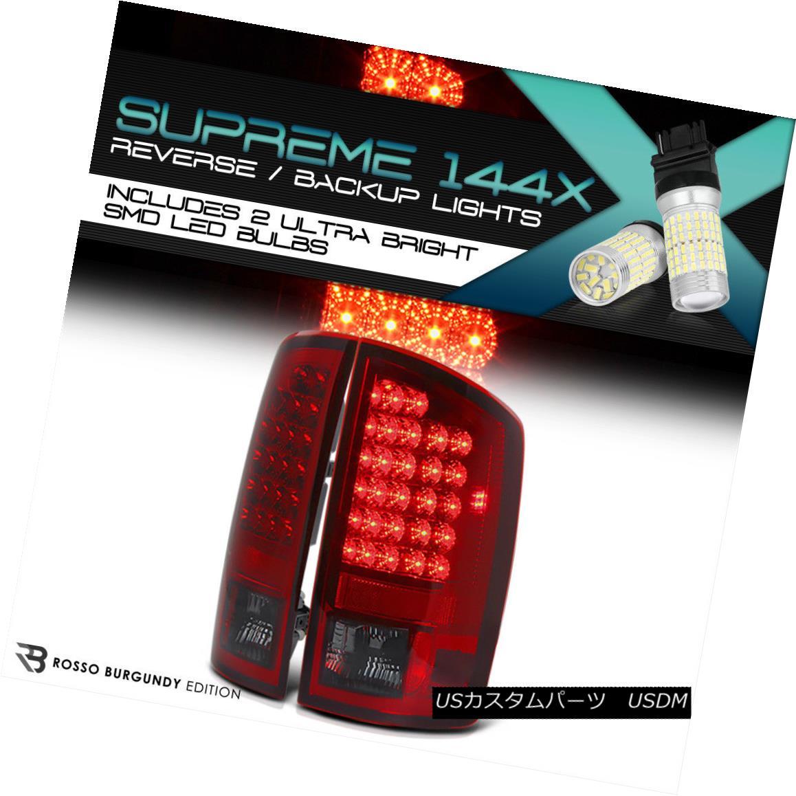 テールライト 360 DEGREE SMD REVERSE [PREMIUM] 02-06 Dodge Ram Smoke Wine Red LED Tail Lamp 360°SMD REVERSE [PREMIUM] 02-06ダッジラムスモークワインレッドLEDテールランプ