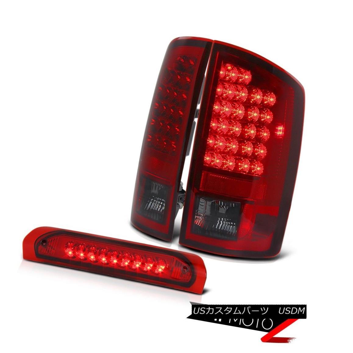 テールライト Dodge Ram 02-05 Left+Right Factory Style RED/CLEAR Tail Light+Led 3rd Brake Lamp ドッジラム02-05左+右工場風レッド/クリアテールライト+第3ブレーキランプ