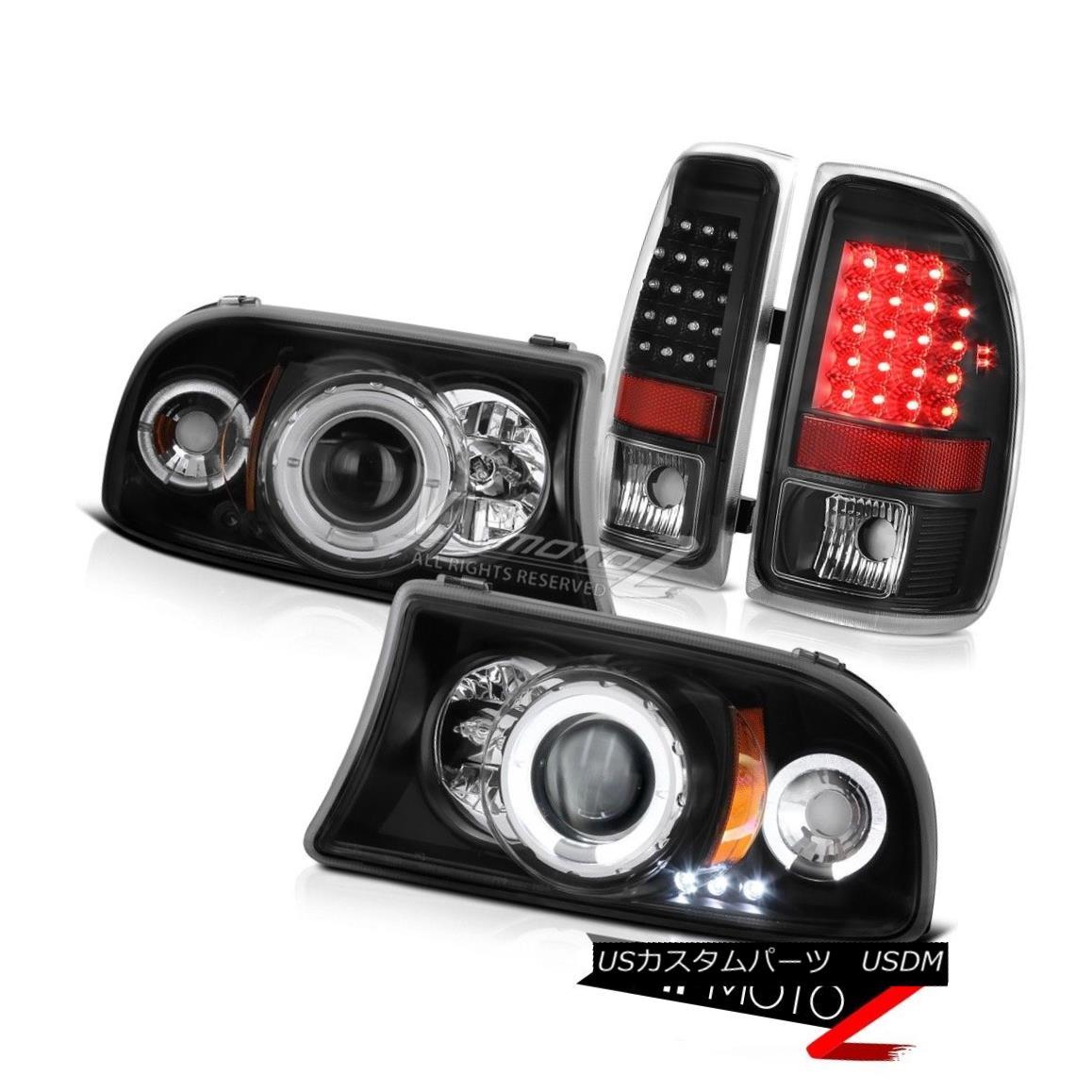 テールライト 1997-2004 Dodge Dakota Magnum Angel Eye DRL Headlamps Rear SMD Brake Tail Lights 1997-2004ダッジダコタマグナムエンジェルアイDRLヘッドランプリアSMDブレーキテールライト