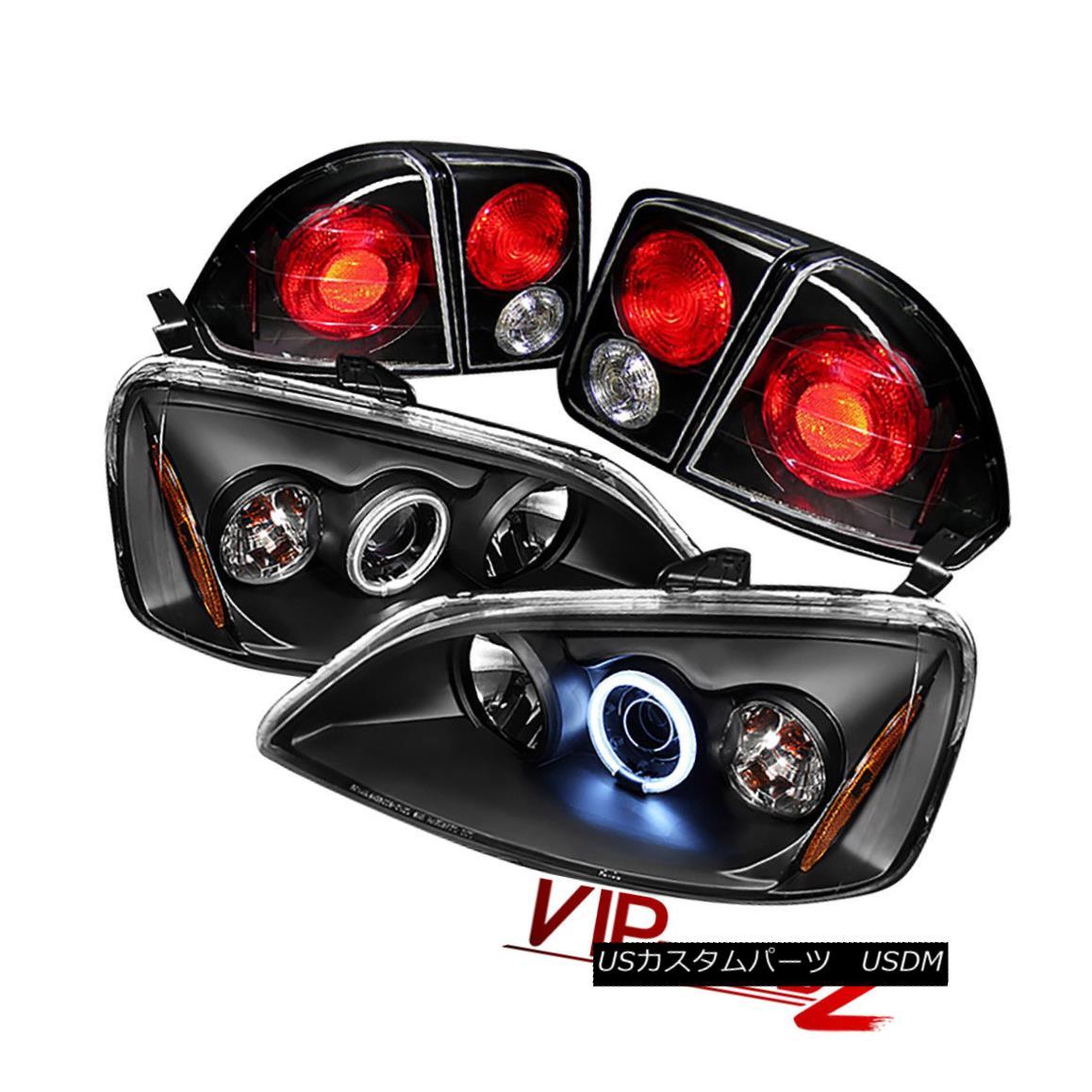 テールライト 01 Honda Civic 4DR Sedan CCFL Halo Projector Headlight+Black Altezza Tail Light 01ホンダシビック4DRセダンCCFLハロープロジェクターヘッドライト+ブラック k Altezzaテールライト