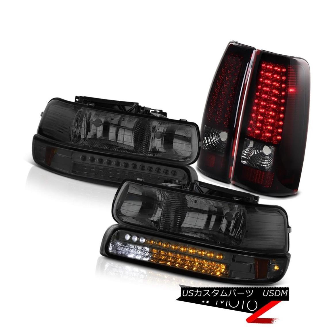 大人女性の テールライト 1999-2002 Silverado 1500 2500 Bumper SMD DRL Head Lights Smokey LED Red Taillamp 1999-2002 Silverado 1500 2500バンパーSMD DRLヘッドライトSmokey LED Red Taillamp, パンプキンスタジオ fba18f7a