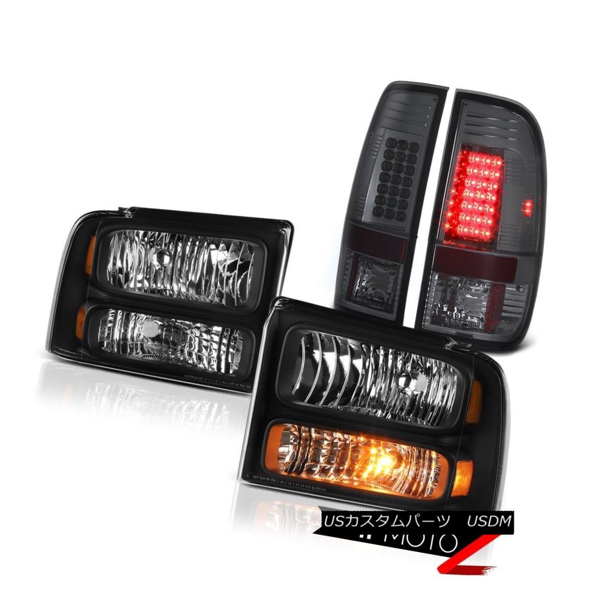 テールライト Inky Black Headlights Smoke LED TailLights 2005 2006 2007 Ford F250 F350 5.4L Inky BlackヘッドライトSmoke LED TailLights 2005 2006 2007 Ford F250 F350 5.4L