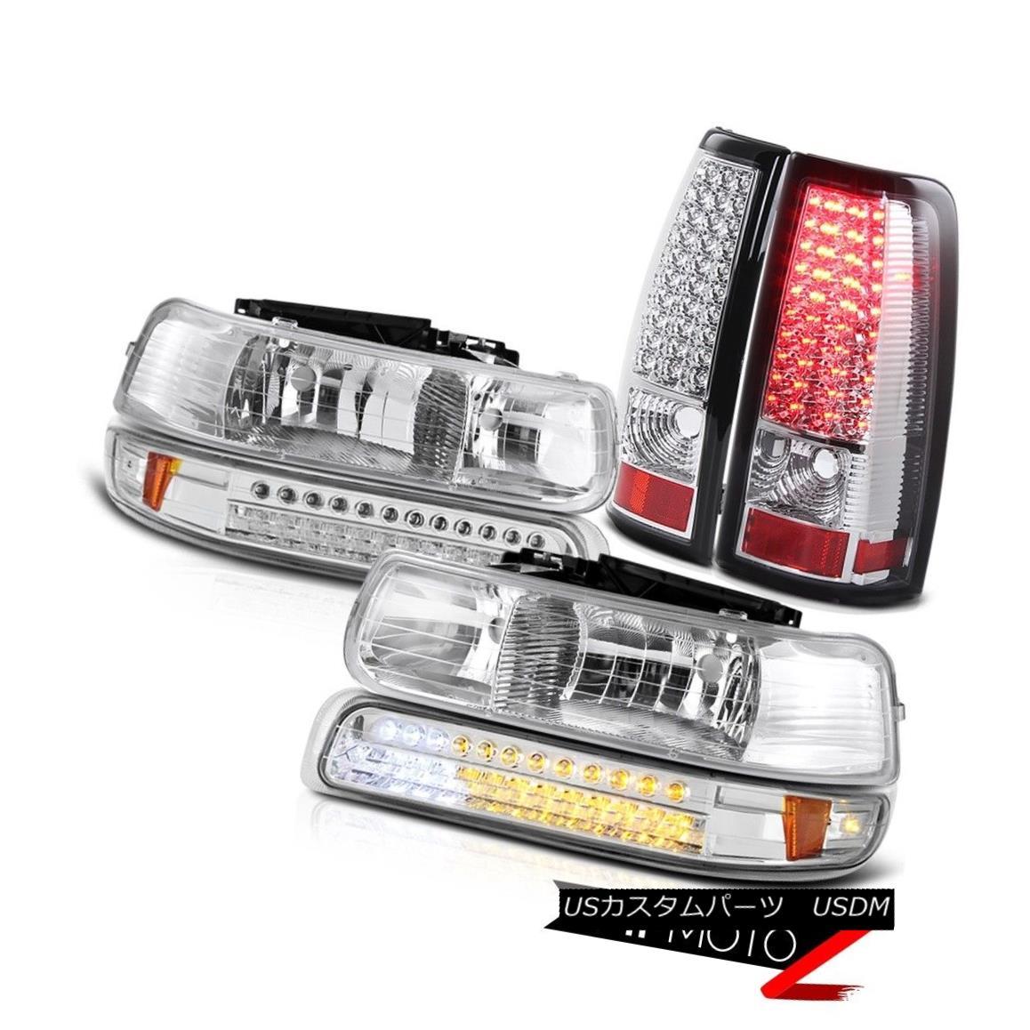 テールライト 1999-2002 GMT800 Silverado Chrome Front headlamps Turn Signal DRL LED Taillights 1999-2002 GMT800 SilveradoクロームフロントヘッドランプターンシグナルDRL LEDターンライト