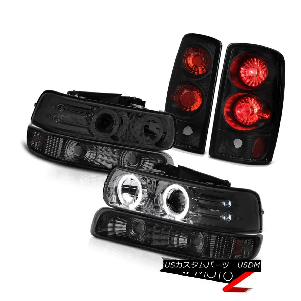 テールライト Dark Halo Projector Headlights Parking Rear Signal Brake Lights 2000-06 Suburban ダークハロープロジェクターヘッドライトパーキングリアシグナルブレーキライト2000-06郊外