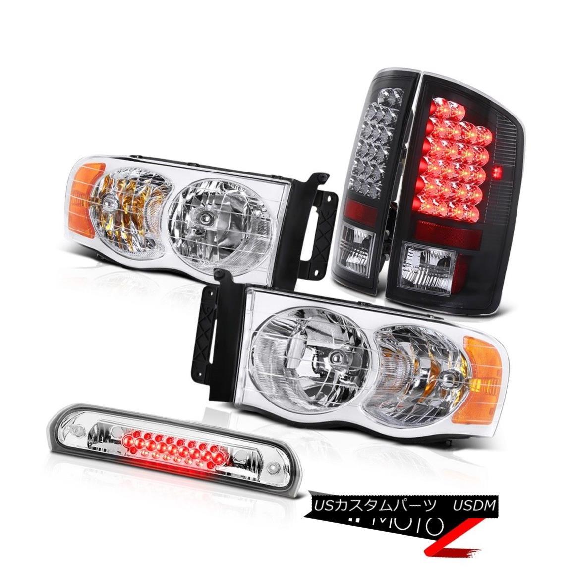 テールライト Crystal Headlights LED Black Taillights Third Brake Cargo 02 03 04 05 Ram 2500 クリスタルヘッドライトLEDブラックテールライト第3ブレーキ貨物02 03 04 05 Ram 2500