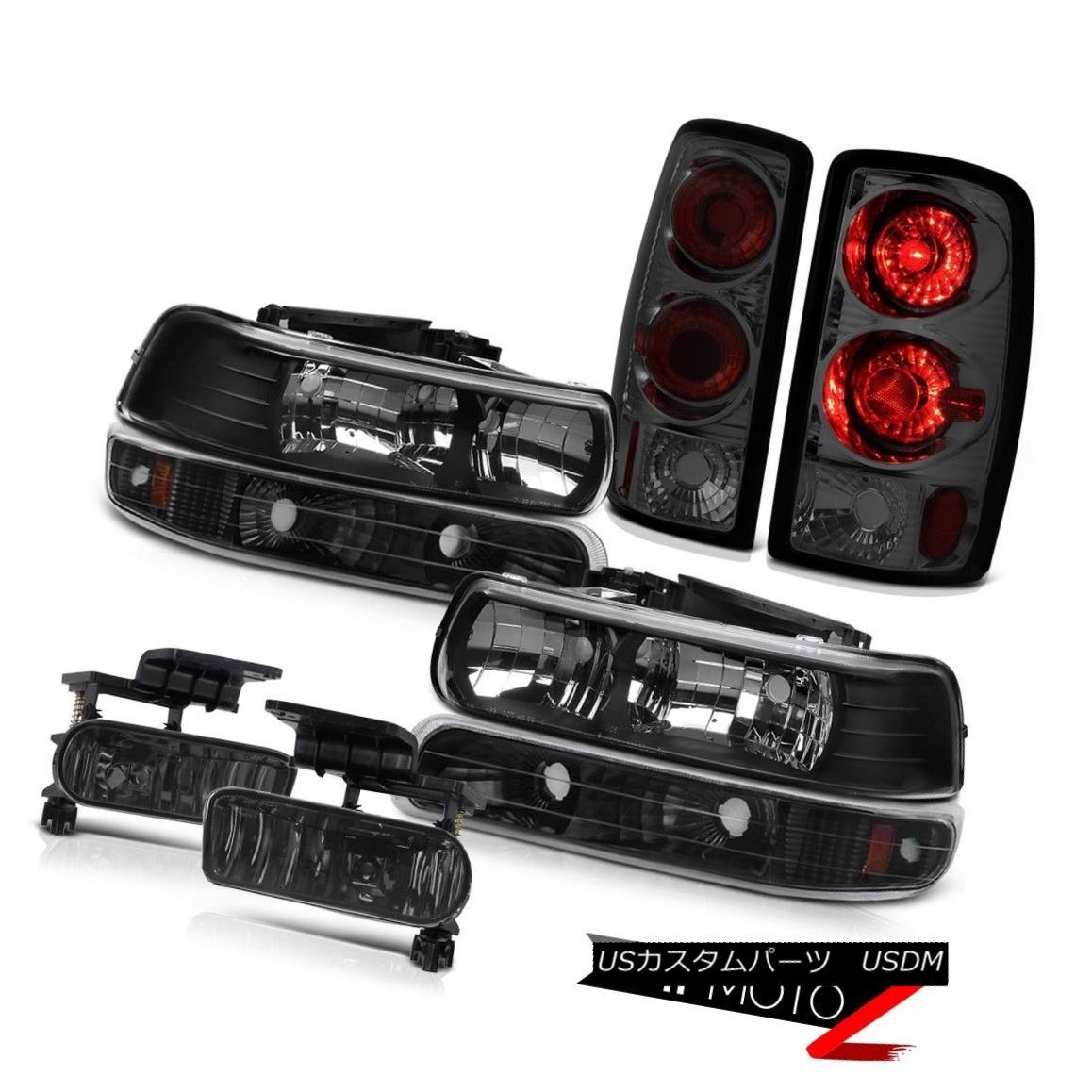 テールライト Left Right Headlights Bumper Smoke Rear Brake Lights Tint Fog 2000-2006 Suburban 左右ヘッドライトバンパースモークリアブレーキライトティントフォッグ2000-2006郊外