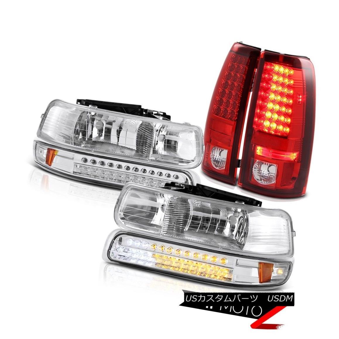 テールライト 99-02 Silverado 4.3L V8 Turn Signal Bumper Light DRL Headlights LED Taillamps 99-02 Silverado 4.3L V8ターンシグナルバンパーライトDRLヘッドライトLEDタイルランプ
