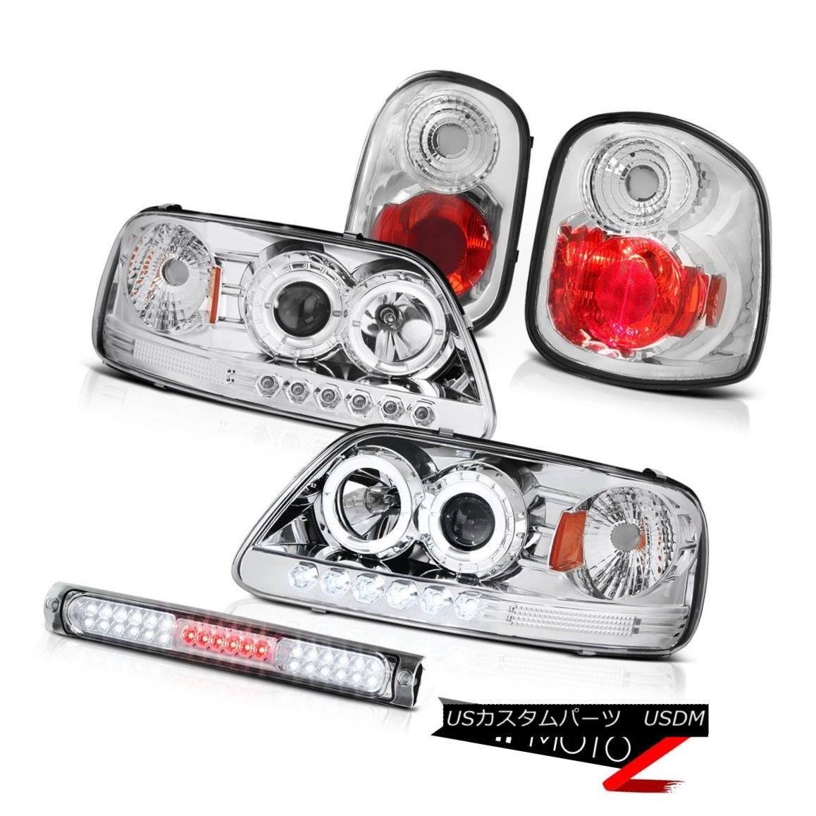 テールライト Euro Halo LED Headlights Rear Tail Lamps Third Brake 2001-2003 F150 Flareside XL ユーロHalo LEDヘッドライトリアテールランプ第3ブレーキ2001-2003 F150 Flareside XL
