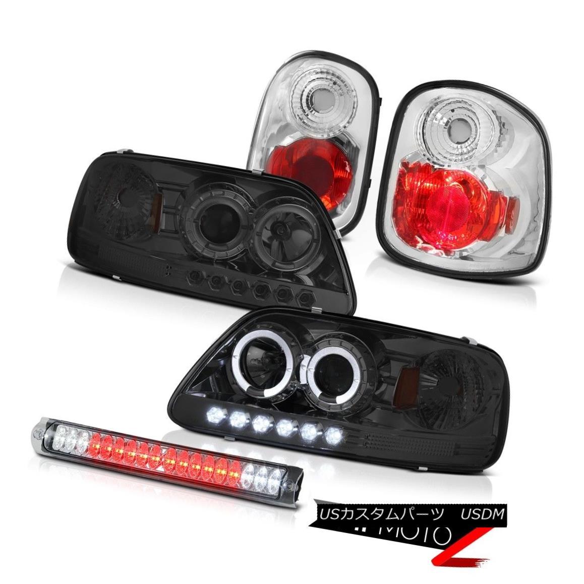 テールライト Halo Smoke Headlights Rear Brake Lights LED Clear 01 02 03 F150 Flareside 5.4L Halo SmokeヘッドライトリアブレーキライトLEDクリア01 02 03 F150 Flareside 5.4L