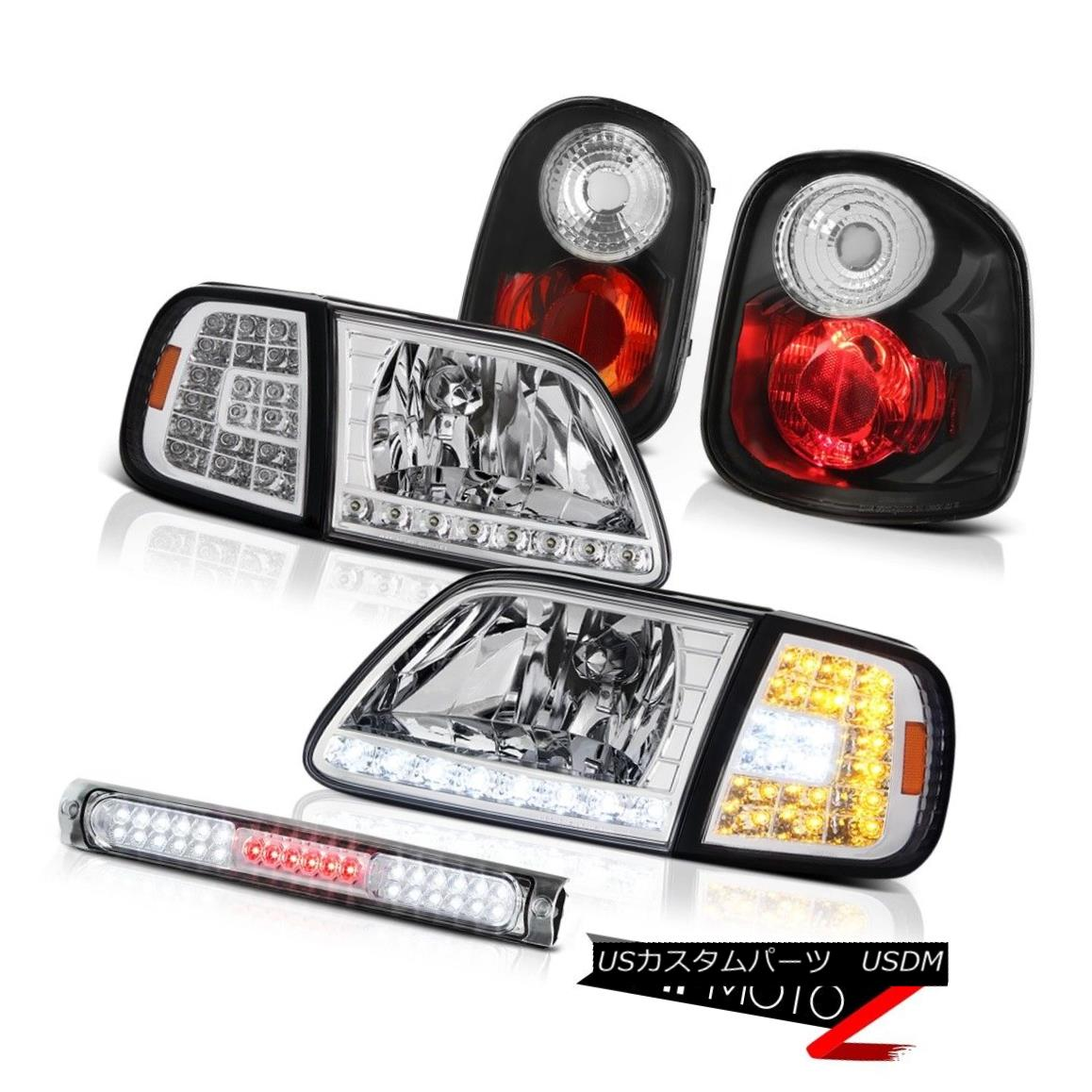 テールライト 01-03 F150 Flareside 4.2L Euro SMD Corner+Headlamps Reverse TailLight Brake LED 01-03 F150フラレイド4.2LユーロSMDコーナー+ヘッドラム ps逆テールライトブレーキLED