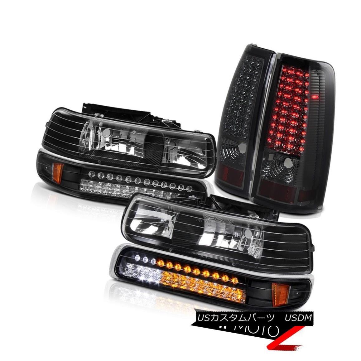テールライト CHEVY Silverado Standard Extended Crew BRIGHT LED] Smoke Tail Headlight Lamp SET CHEVYシルバラードスタンダード拡張クルーBRIGHT LED]スモークテールヘッドライトランプSET