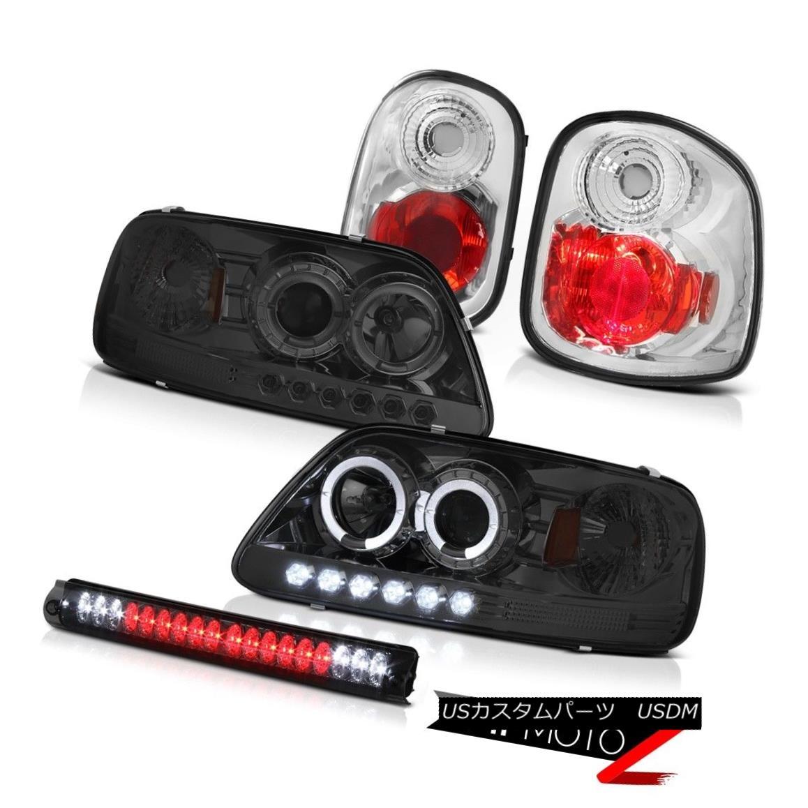 テールライト Halo LED Headlights Euro Tail Lights High Brake 2001-2003 F150 Flareside 4.6L Halo LEDヘッドライトユーロテールライトハイブレーキ2001-2003 F150 Flareside 4.6L