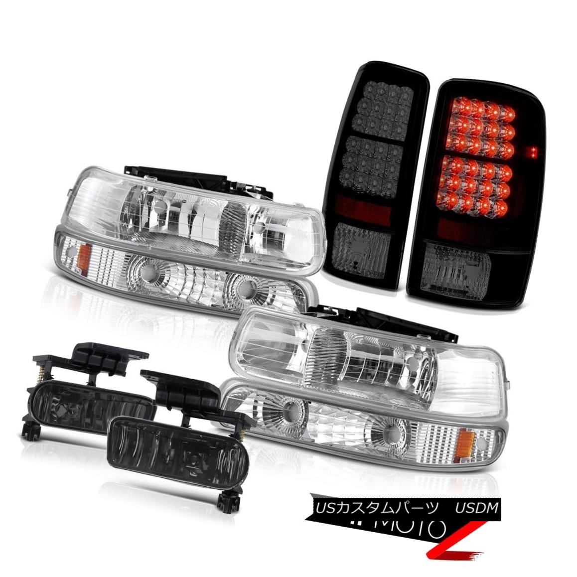 テールライト 2000-2006 Tahoe 5.3L Crystal Bumper Headlights Bright LED Taillamps Driving Fog 2000-2006タホ5.3Lクリスタルバンパーヘッドライト明るいLEDタイルランプドライビングフォグ