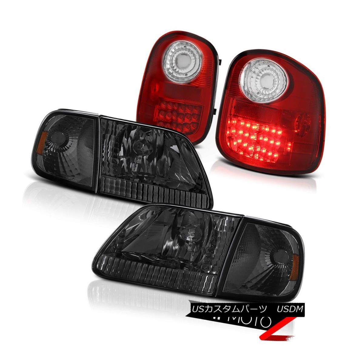 テールライト Smoke Corner+Headlights LED Brake Tail Lights 1997-2003 Ford F150 Flareside 4.6L スモークコーナー+ヘッドリッグ hts LEDブレーキテールライト1997-2003 Ford F150 Flareside 4.6L