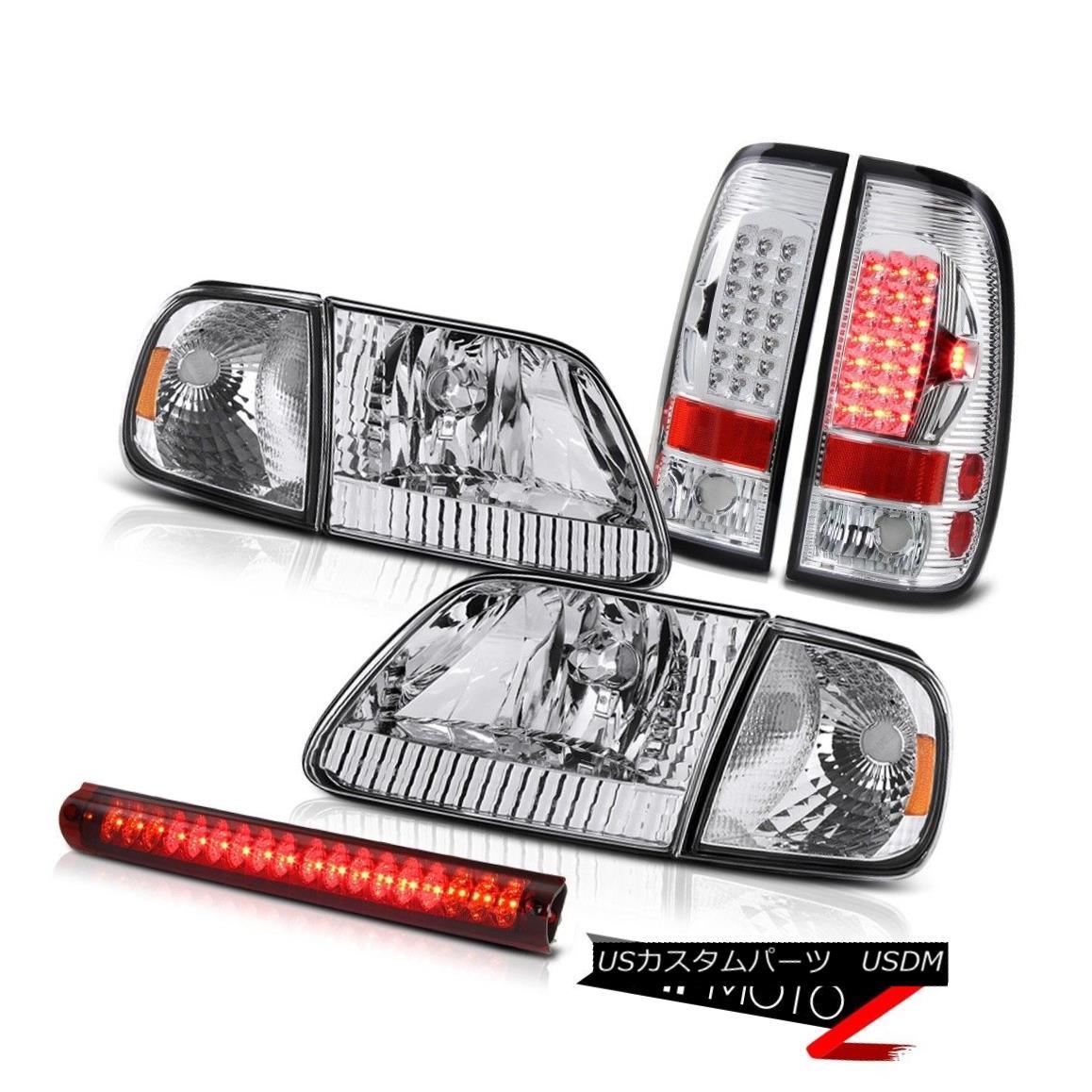 テールライト Factory Style Headlights Euro Parking LED Taillights Third Brake 97-03 Ford F150 ファクトリースタイルのヘッドライトユーロパーキングLEDテールライト3速ブレーキ97-03 Ford F150