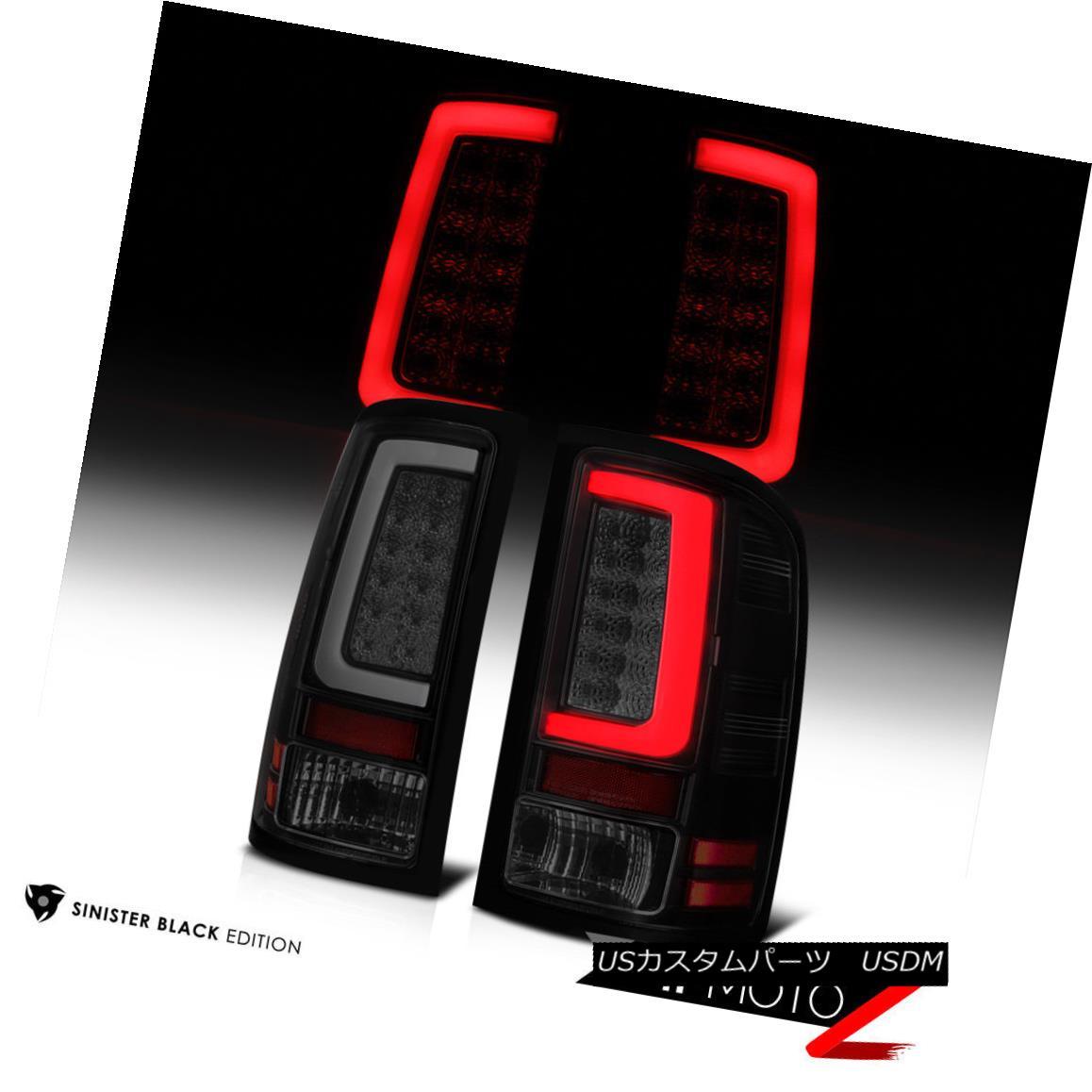 テールライト 07-13 GMC Sierra Black Housing Smoked Lens LED Bar Brake Signal Lamp Tail Light 07-13 GMC Sierra Black HousingスモークレンズLEDバーブレーキ信号ランプテールライト