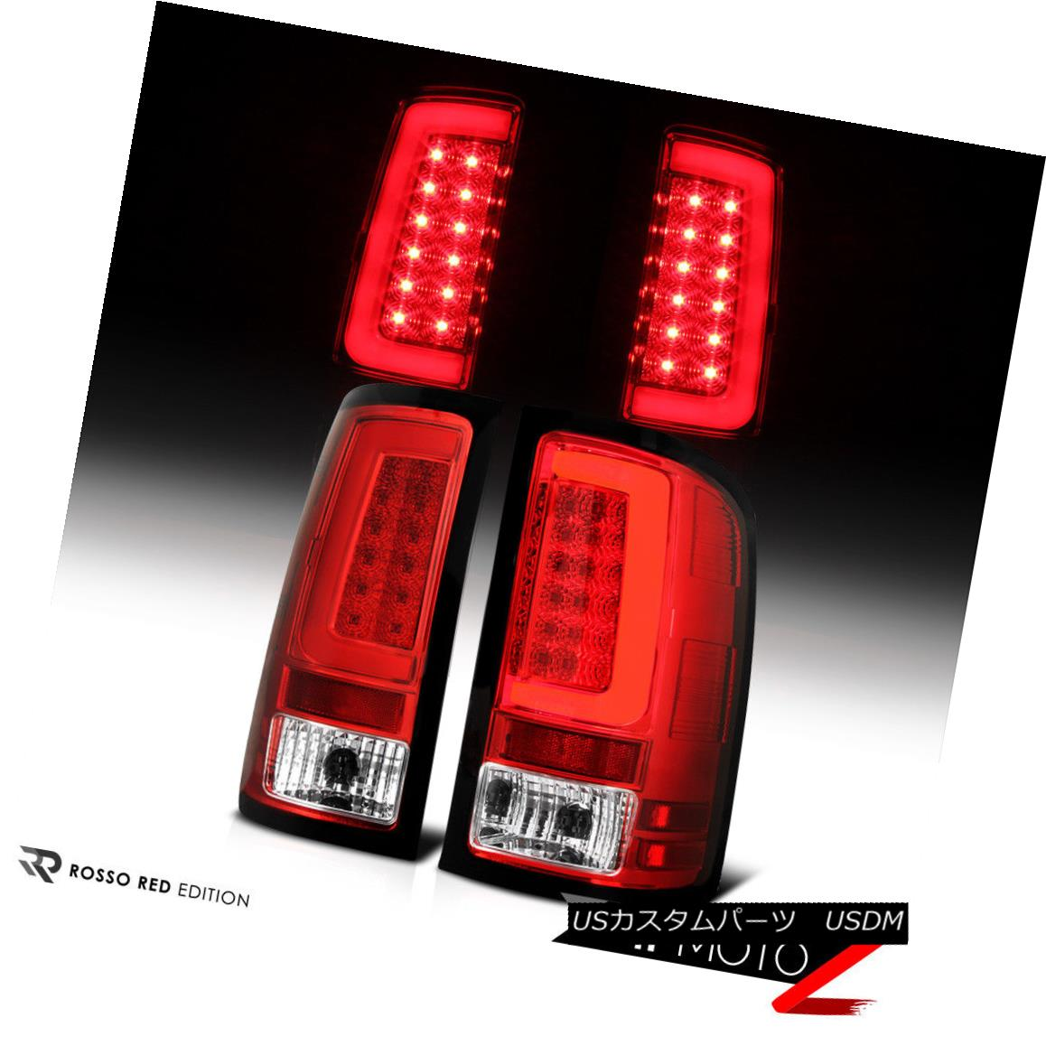 テールライト 07-13 GMC Sierra Chrome Housing Red Lens LED Bar Brake Signal Lamp Tail Light 07-13 GMC Sierra Chromeハウジング赤色レンズLEDバーブレーキ信号ランプテールライト