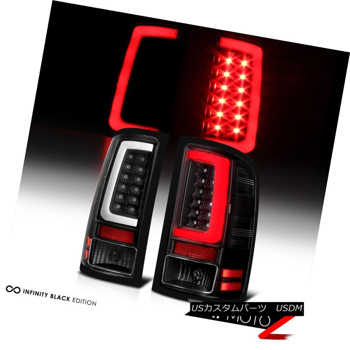 テールライト 07-13 GMC Sierra Black Housing Clear Lens LED Bar Brake Signal Lamp Tail Light 07-13 GMC SierraブラックハウジングクリアレンズLEDバーブレーキ信号ランプテールライト