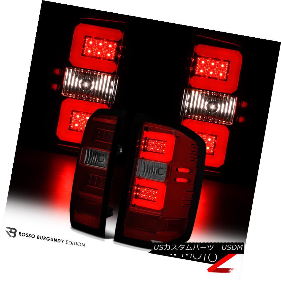 テールライト 2014-2018 Chevy Silverado WINE RED LED Fiber Optic S.M.D Rear Brake Tail Lights 2014-2018 Chevy SilveradoワインレッドLED光ファイバーS.M.Dリアブレーキテールライト