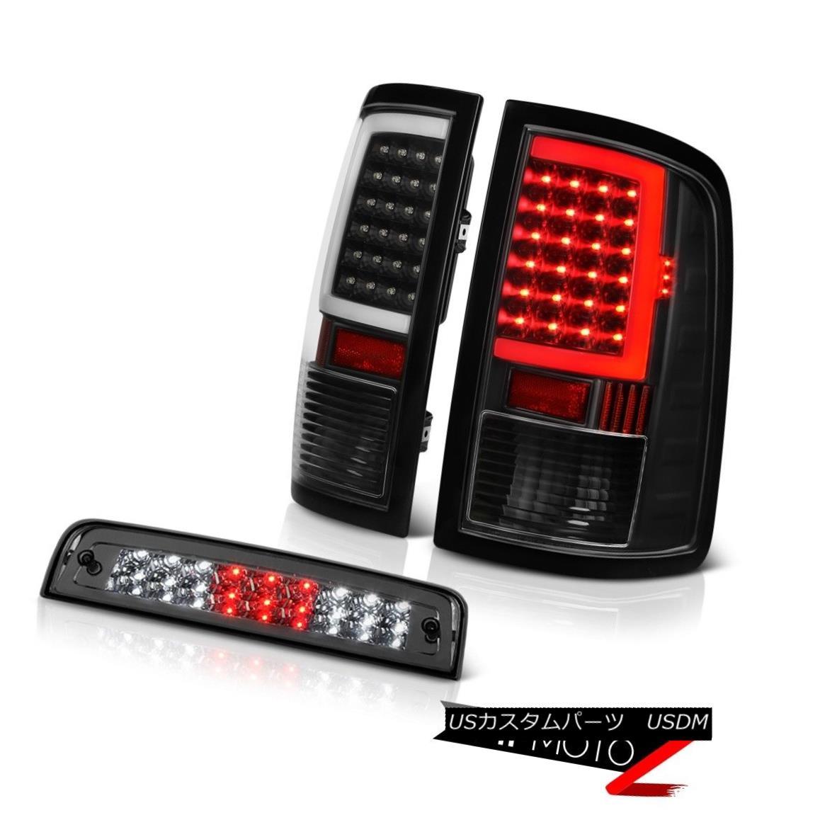テールライト 09-18 Dodge RAM 2500 Tail Lamp Graphite Smoke 3rd Brake Light Replacement SET 09-18ダッジRAM 2500テールランプグラファイトスモーク第3ブレーキライト交換セット