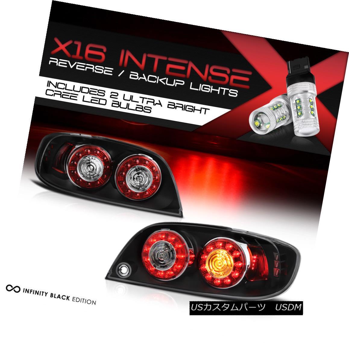テールライト CREE LED BACKUP 2004-2008 Mazda RX8 RX-8 Shinka Rear JDM Black LED Rear Taillamp クリーLEDバックアップ2004-2008マツダRX8 RX-8新車リアJDMブラックLEDリアタイヤンプ