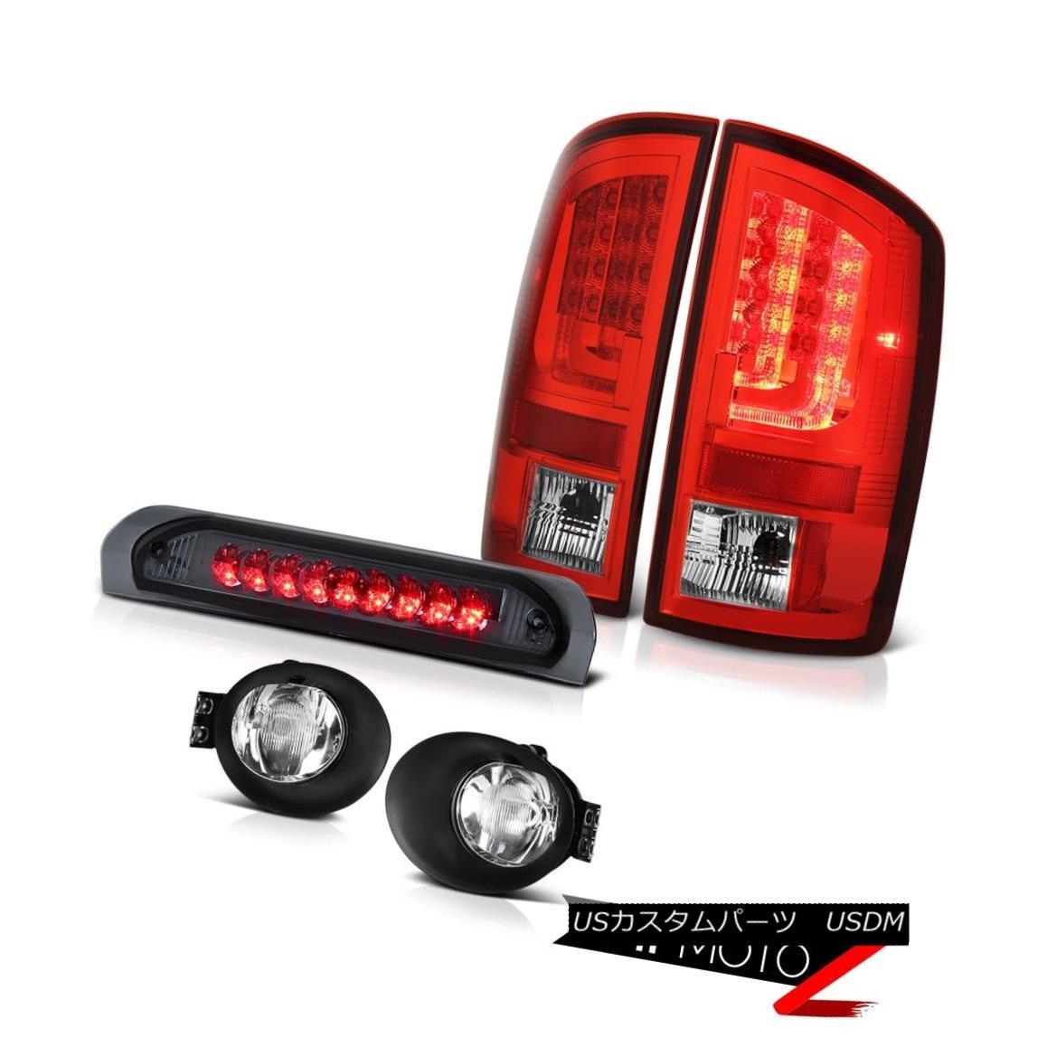 テールライト 2003-2006 Dodge Ram 2500 5.9L Red Taillights Chrome Foglamps High STop Light LED 2003-2006 Dodge Ram 2500 5.9LレッドティアライトクロームフォグランプハイSTopライトLED