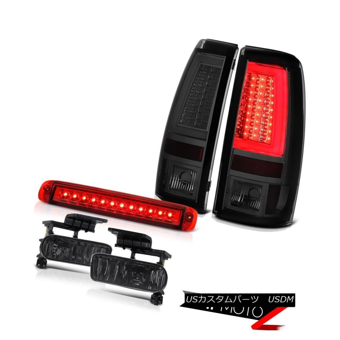 テールライト 99-02 Silverado 5.3L Smokey Tail Lamps Wine Red Roof Brake Light Foglamps LED 99-02 Silverado 5.3LスモーキーテールランプワインレッドルーフブレーキライトフォグランプLED