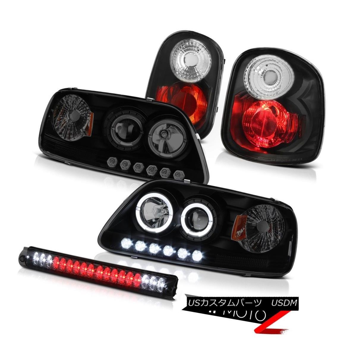 テールライト 2001 2002 2003 F150 XLT LED Projector DRL Headlight Tail Lamp Brake Lights Smoke 2001 2002 2003 F150 XLT LEDプロジェクターDRLヘッドライトテールランプブレーキライトスモーク
