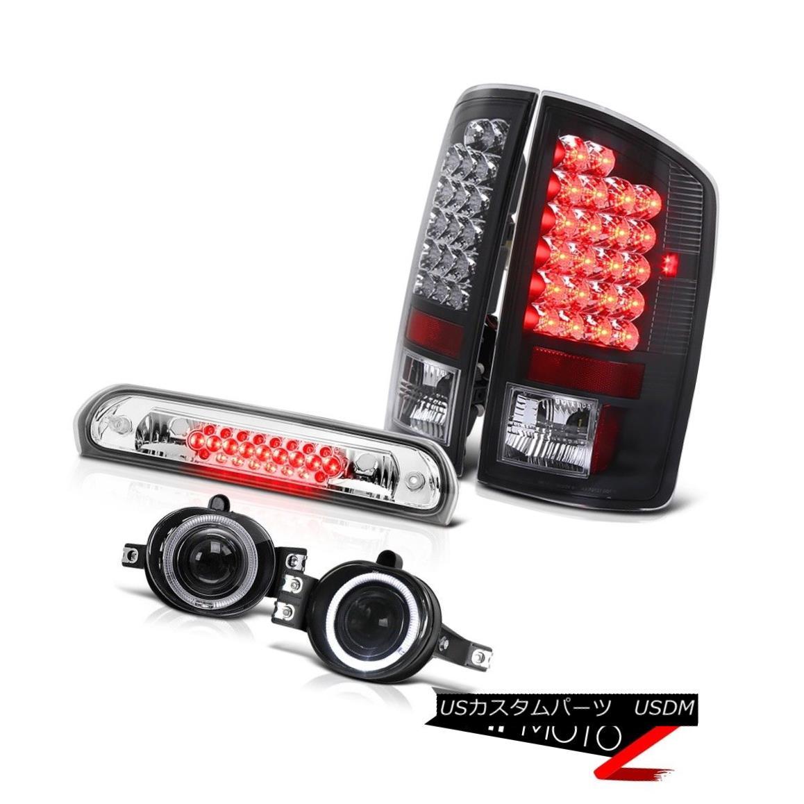 テールライト 2006 Dodge Ram Hemi Black Brake LED Tail Lights Glass Projector Fog Roof Cargo 2006ダッジラムヘミブラックブレーキLEDテールライトガラスプロジェクターフォグ屋根貨物