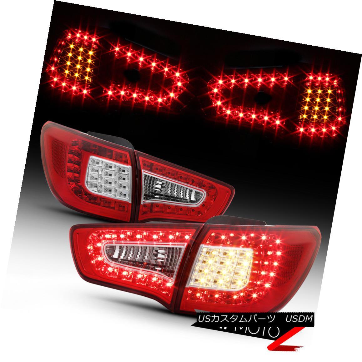 テールライト {LATEST DESIGN} Factory RED LED Tail Lights For 2011-2013 Kia Sportage EX LX SX {LATEST DESIGN}ファクトリーRED LEDテールライト2011-2013 Kia Sportage EX LX SX