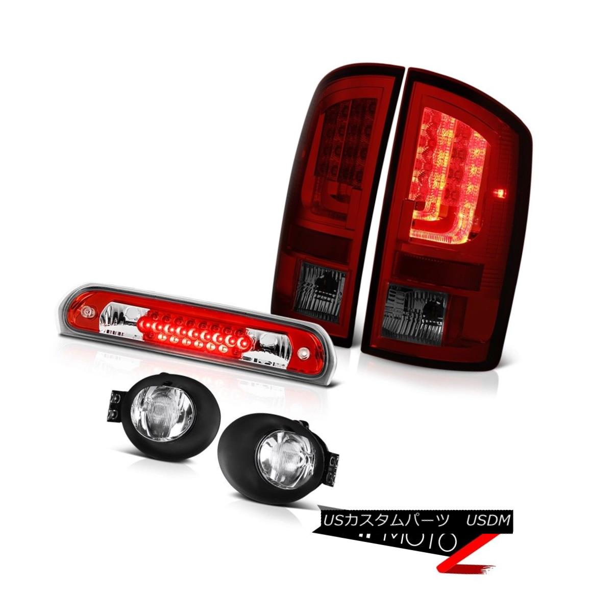 テールライト 2003-2006 Dodge Ram 2500 5.7L Taillights Chrome Foglamps Red High STop Lamp LED 2003-2006 Dodge Ram 2500 5.7LテールライトクロームフォグランプレッドハイSTOPランプLED