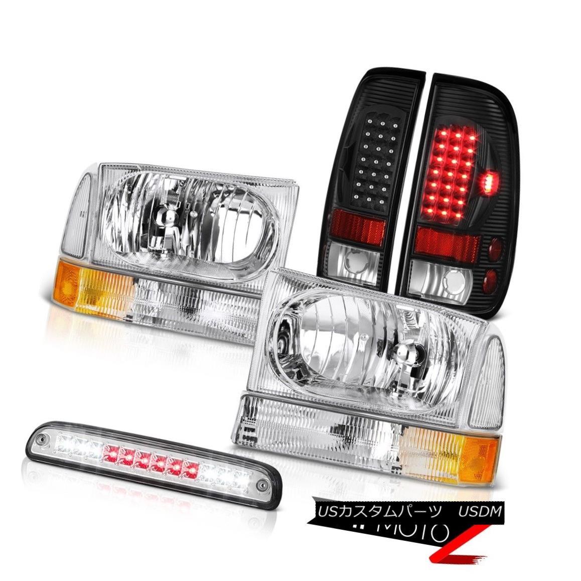 テールライト Euro Headlights High Stop LED L.E.D Rear Tail Light 99 00 01 02 03 04 F350 7.3L ユーロヘッドライトハイストップLED L.E.Dリアテールライト99 00 01 02 03 04 F350 7.3L