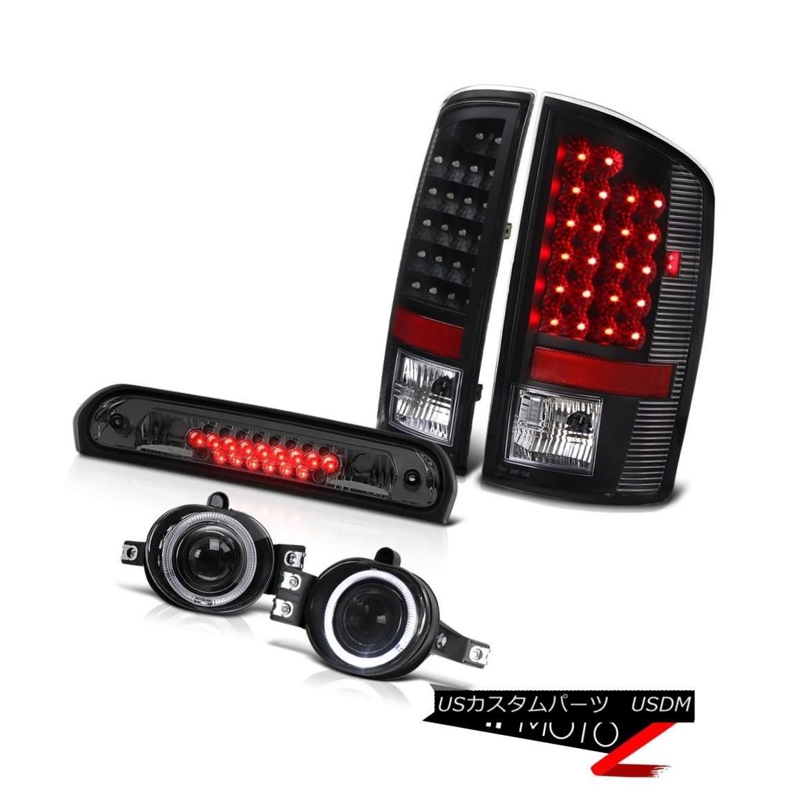 テールライト Black Brake Tail Lights Projector Foglights High Cargo LED 07 08 Dodge Ram 2500 ブラックブレーキテールライトプロジェクターFoglightsハイカーゴLED 07 08ドッジラム2500