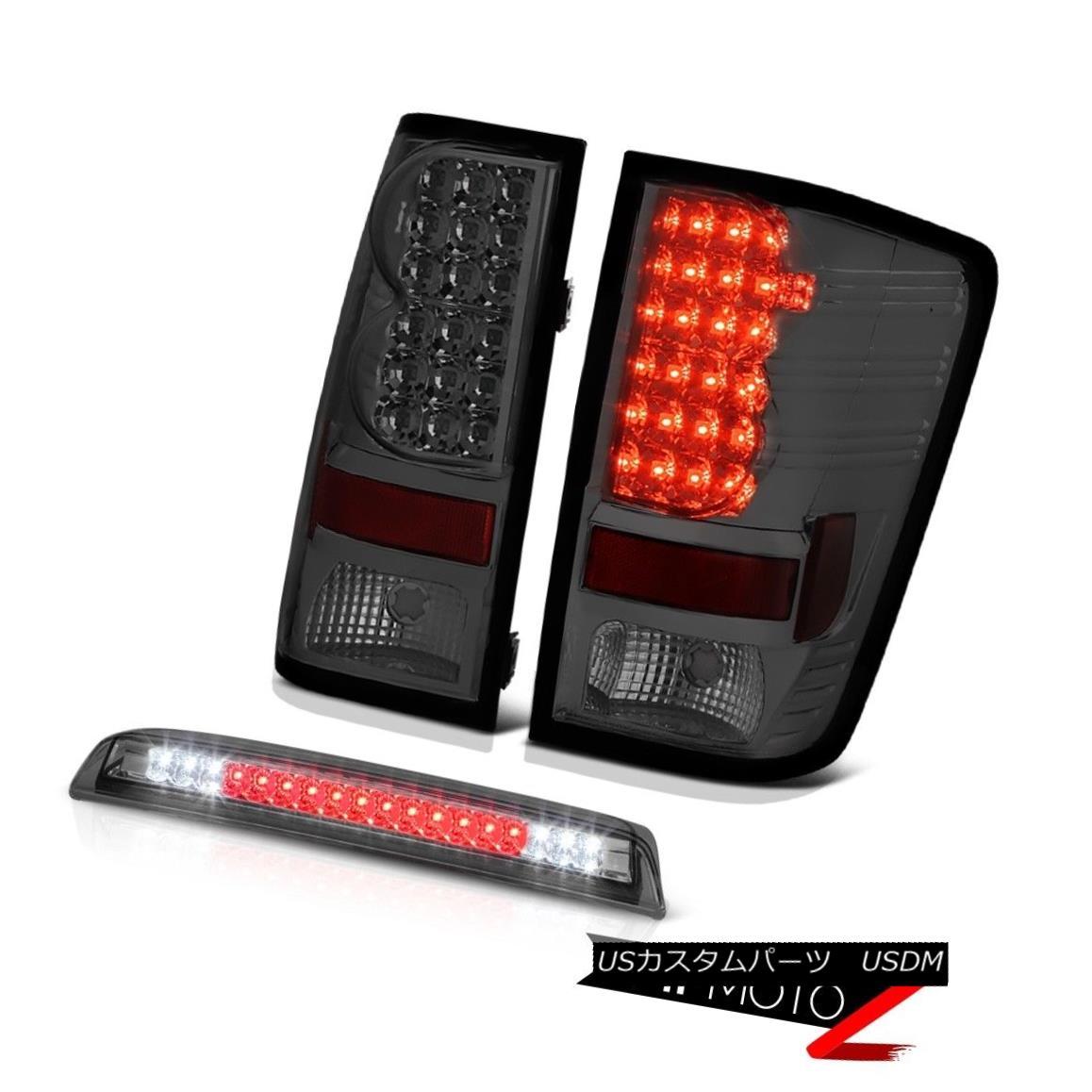 テールライト For 2004-2015 Titan NEW Smoke LED Tail Lights Lamp Tinted 3rd Brake Cargo Roof 2004年?2015年Titan NEW Smoke LEDテールライトランプ、第3ブレーキカーゴルーフ