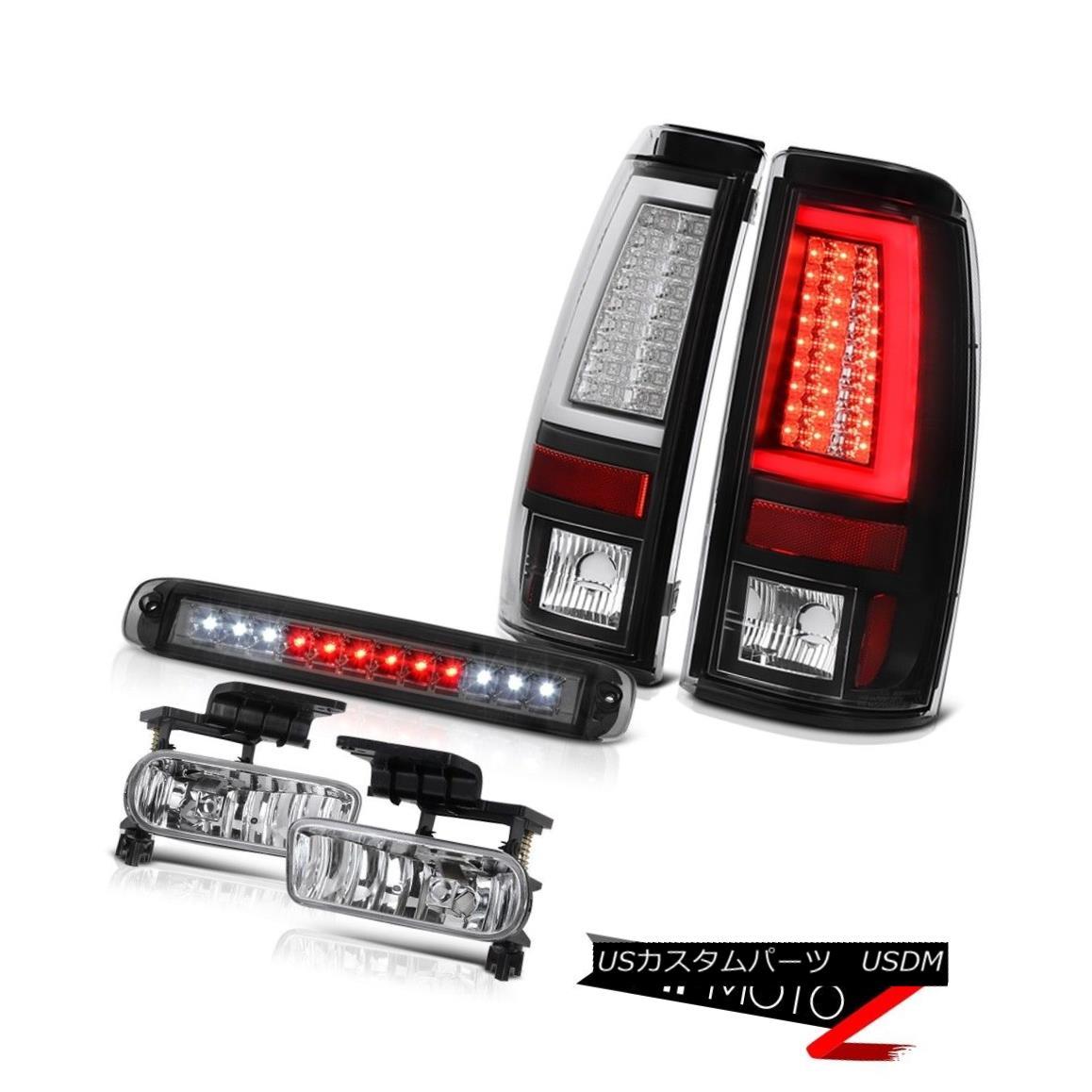 テールライト 1999-2002 Silverado 3500HD Inky Black Rear Brake Lamps High Stop Light Foglamps 1999-2002 Silverado 3500HD Inky BlackリアブレーキランプHigh Stop Light Foglamps